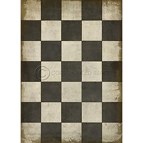 Image of Vinyl Floorcloth ~ Check Please Black - Cece & Me - Home and Gifts