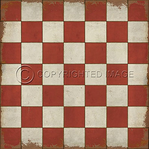Image of Vinyl Floorcloth ~ Check Please Red - Cece & Me - Home and Gifts