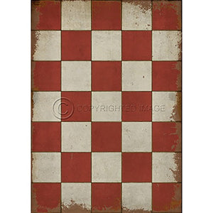 Vinyl Floorcloth ~ Check Please Red - Cece & Me - Home and Gifts