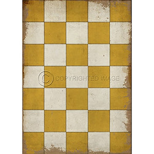 Vinyl Floorcloth ~ Check Please Yellow - Cece & Me - Home and Gifts