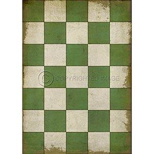 Vinyl Floorcloth ~ Check Please Green - Cece & Me - Home and Gifts