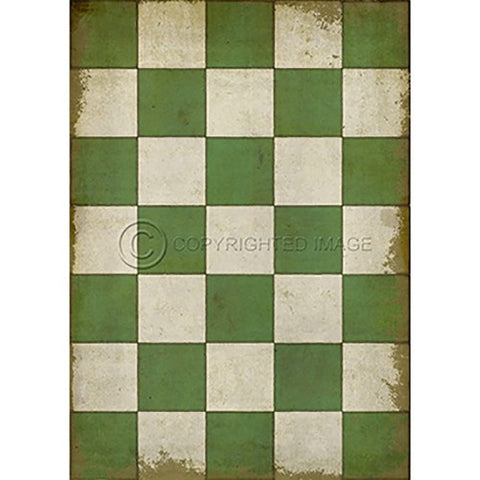 Image of Vinyl Floorcloth ~ Check Please Green - Cece & Me - Home and Gifts