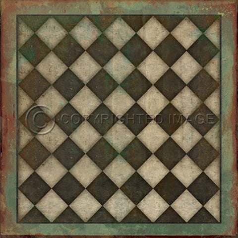 Image of Vinyl Floorcloth ~ Checkmate - Cece & Me - Home and Gifts