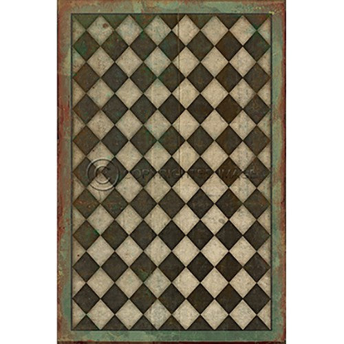 Vinyl Floorcloth ~ Checkmate - Cece & Me - Home and Gifts