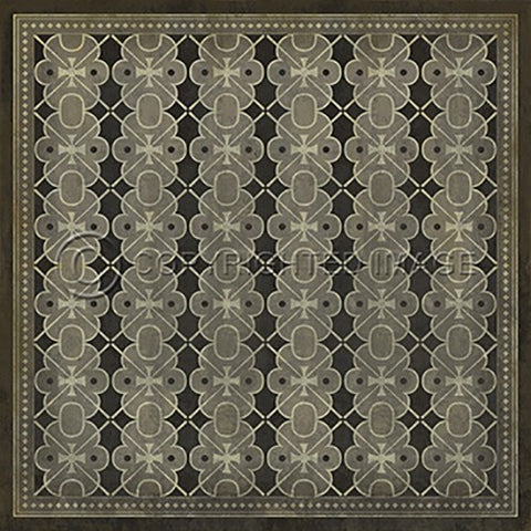 Image of Vinyl Floorcloth ~ Dorian Gray - Cece & Me - Home and Gifts