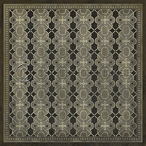 Vinyl Floorcloth ~ Dorian Gray - Cece & Me - Home and Gifts