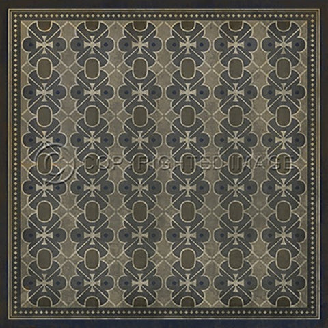 Image of Vinyl Floorcloth ~ London Fog - Cece & Me - Home and Gifts