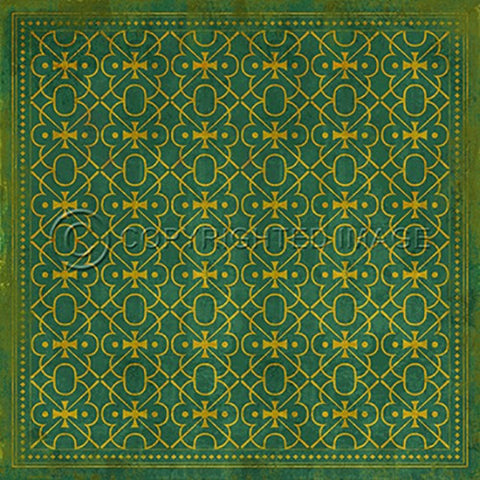 Image of Vinyl Floorcloth ~ Mr Green - Cece & Me - Home and Gifts