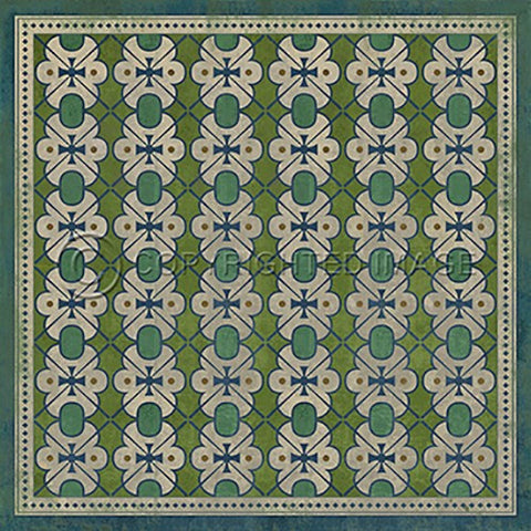 Image of Vinyl Floorcloth ~ Mrs Peacock - Cece & Me - Home and Gifts