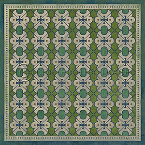 Vinyl Floorcloth ~ Mrs Peacock - Cece & Me - Home and Gifts