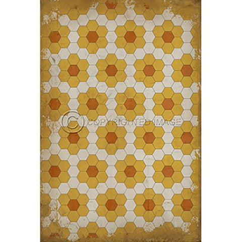 Image of Vinyl Floorcloth ~ Pushing up Daisies - Cece & Me - Home and Gifts