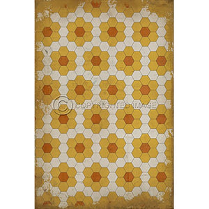 Vinyl Floorcloth ~ Pushing up Daisies - Cece & Me - Home and Gifts