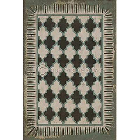 Image of Vinyl Floorcloth ~ Taj Mahal - Cece & Me - Home and Gifts
