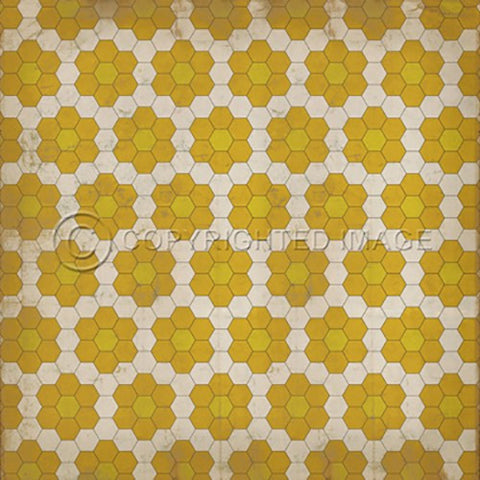 Image of Vinyl Floorcloth ~ The Bees Knees - Cece & Me - Home and Gifts