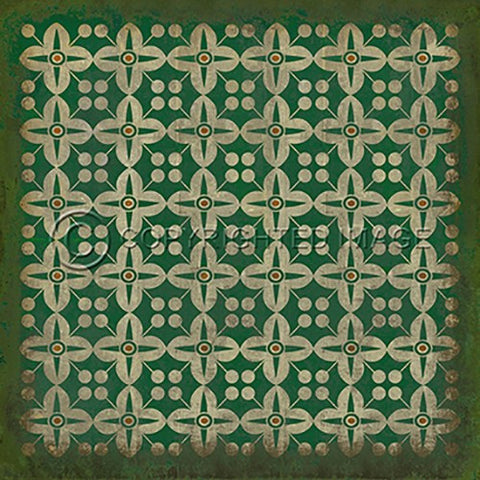 Image of Vinyl Floorcloth ~ The Emerald City - Cece & Me - Home and Gifts