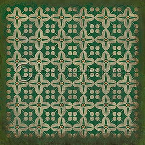 Vinyl Floorcloth ~ The Emerald City - Cece & Me - Home and Gifts