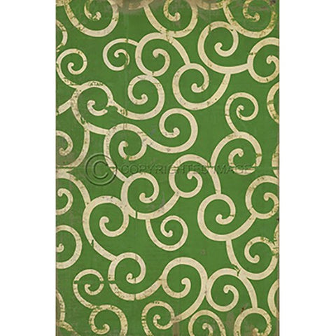 Vinyl Floorcloth ~ The Sea of Green - Cece & Me - Home and Gifts