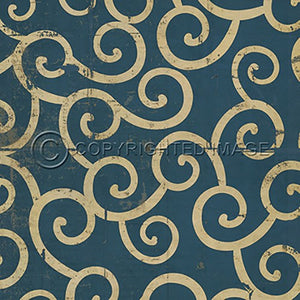 Vinyl Floorcloth ~ Tsunami - Cece & Me - Home and Gifts