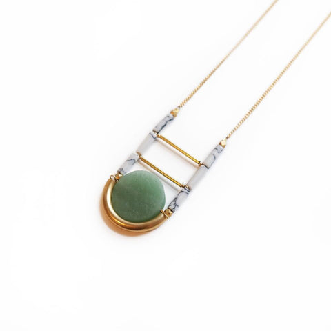 Vivant Necklace In Green Aventurine - Cece & Me - Home and Gifts