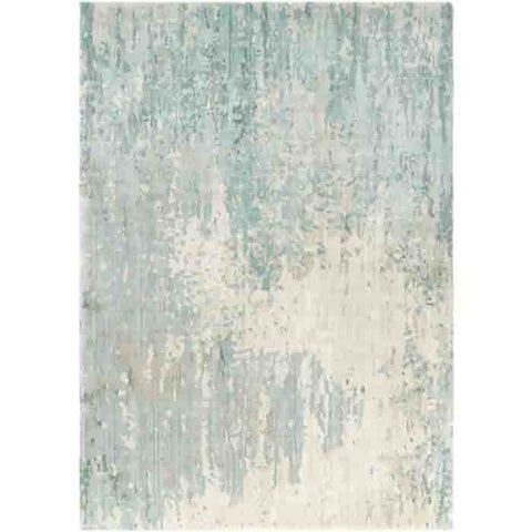 Image of Watercolor Wool Rug ~ Teal/Khaki - Cece & Me - Home and Gifts