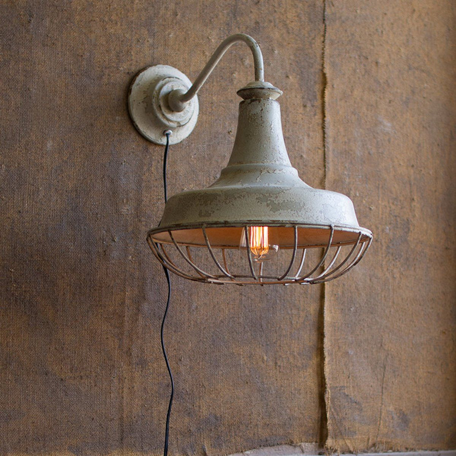 Wall Sconce Lamp w/Cage - Cece & Me - Home and Gifts