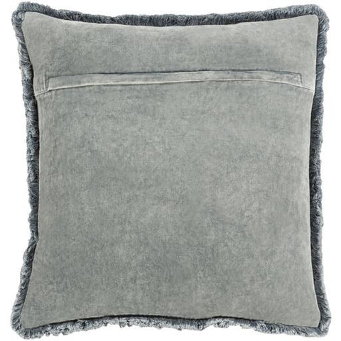 Washed Cotton Velvet Pillow ~ Gray - Cece & Me - Home and Gifts