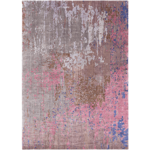 Image of Watercolor Wool Rug ~ Lilac/Medium Gray - Cece & Me - Home and Gifts