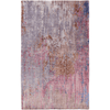 Watercolor Wool Rug ~ Lilac/Medium Gray