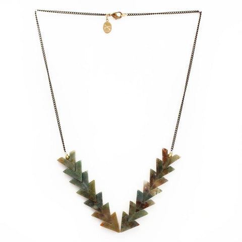 Image of Waves Necklace in Rainbow Jade - Cece & Me - Home and Gifts
