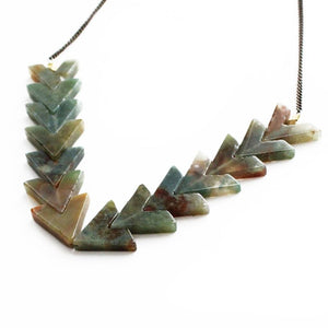 Waves Necklace in Rainbow Jade - Cece & Me - Home and Gifts
