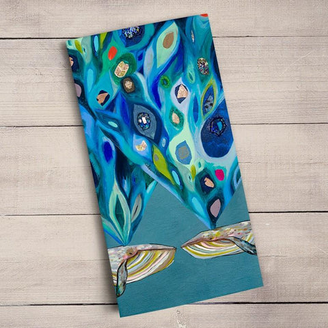 Image of Whales Power Spray Tea Towels - Cece & Me - Home and Gifts
