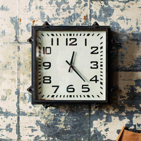 Wheatley Square Wall Clock - Cece & Me - Home and Gifts