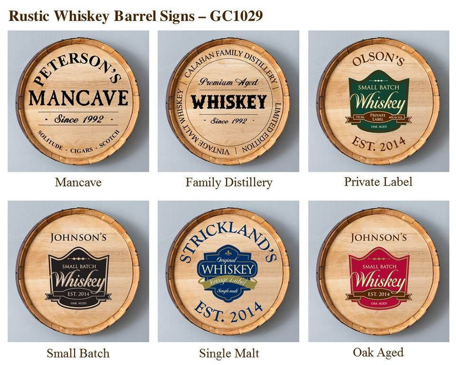 Whiskey Barrel Sign - Cece & Me - Home and Gifts