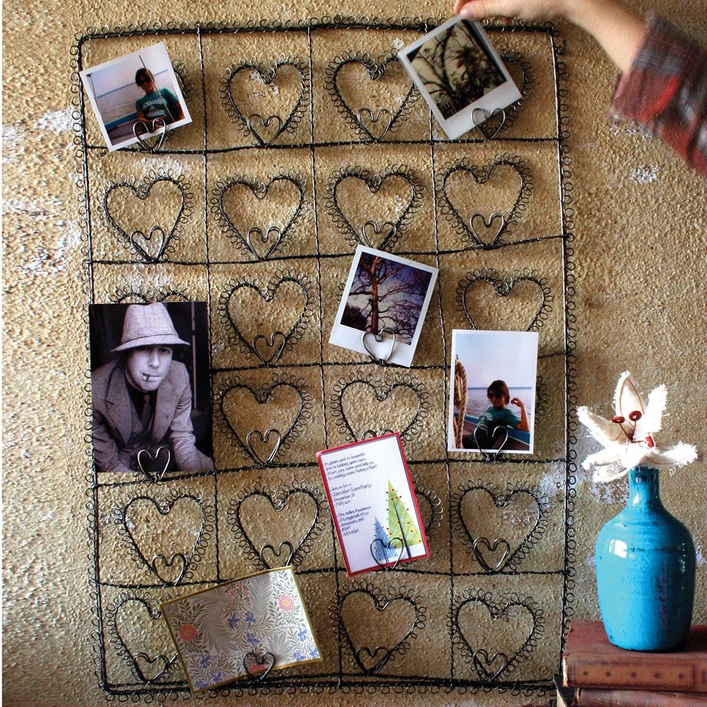 Wire Twenty-Four Heart Photo/Card Holder - Cece & Me - Home and Gifts