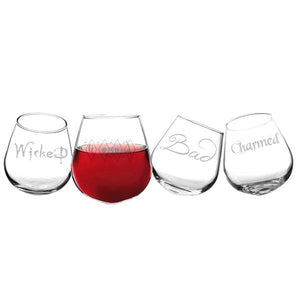 Witchy Woman Tipsy Wine Glasses (Set of 4) - Cece & Me - Home and Gifts