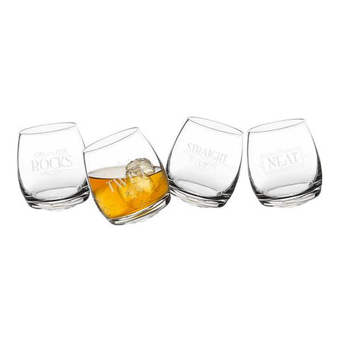 With a Twist Tipsy Whiskey Glasses - Cece & Me - Home and Gifts