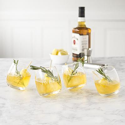 Image of With a Twist Tipsy Whiskey Glasses - Cece & Me - Home and Gifts