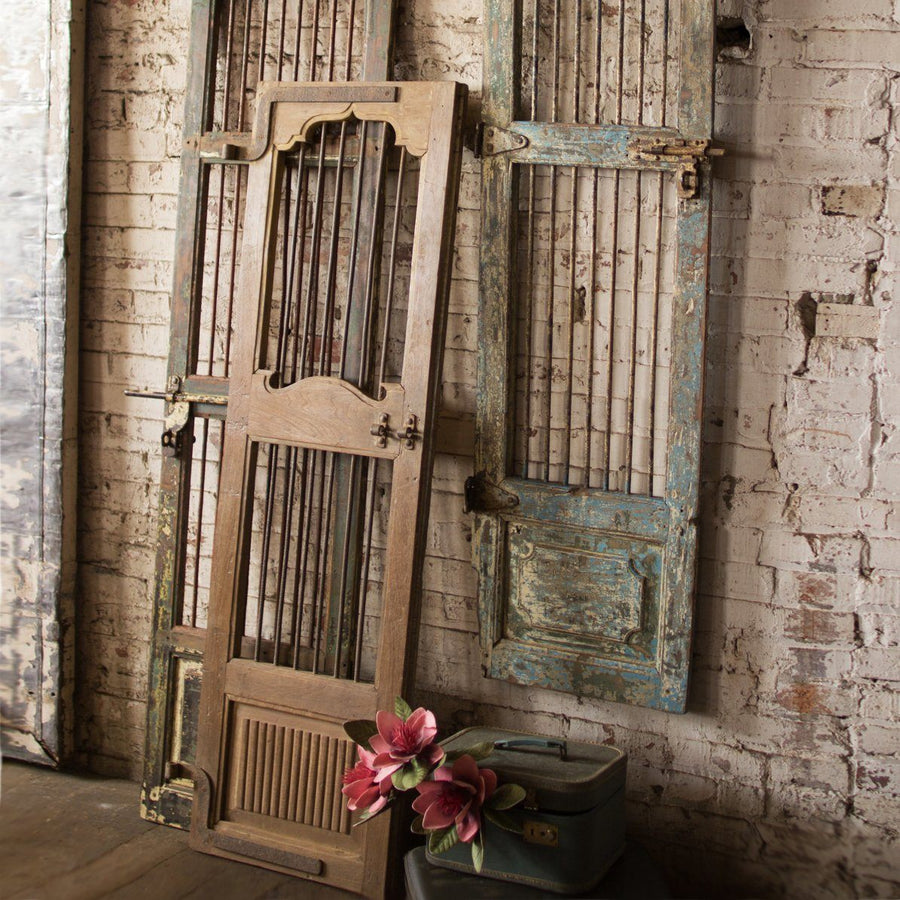 Wood And Iron Door Wall Hanging