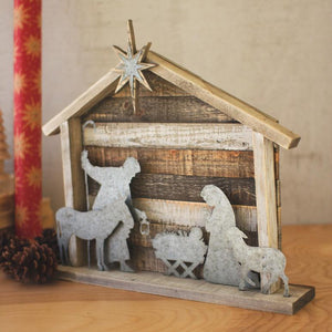 Wood And Metal Nativity - Cece & Me - Home and Gifts
