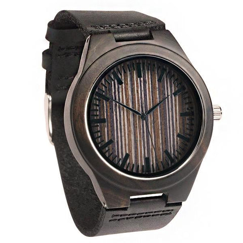 Image of Wood Engraved Bamboo Watch ~ Apex - Cece & Me - Home and Gifts