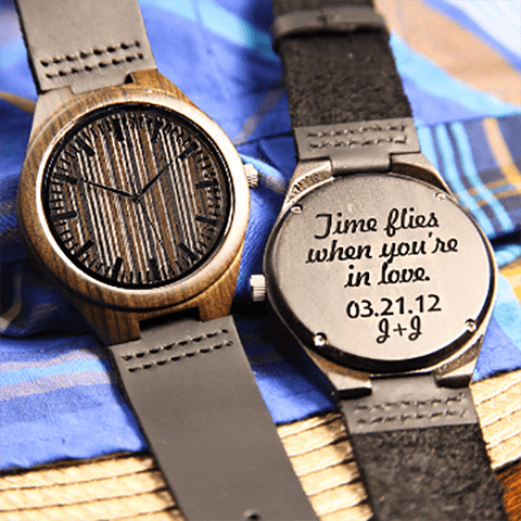 Image of Wood Engraved Bamboo Watch ~ Roman - Cece & Me - Home and Gifts