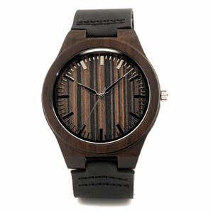 Wood Engraved Bamboo Watch ~ Knight