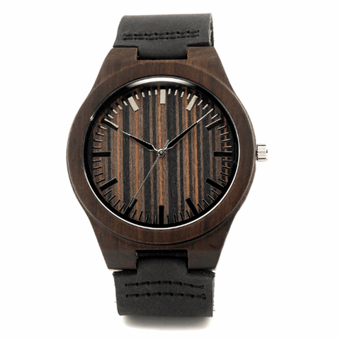 Image of Wood Engraved Bamboo Watch ~ Knight - Cece & Me - Home and Gifts