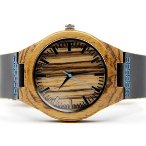 Wood Engraved Bamboo Watch ~ Ocean