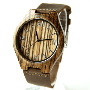 Wood Engraved Bamboo Watch ~ Roman - Cece & Me - Home and Gifts