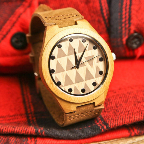 Image of Wood Engraved Bamboo Watch ~ Tryst - Cece & Me - Home and Gifts
