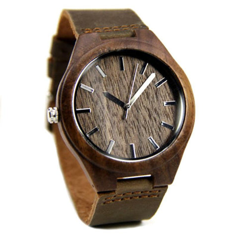 Image of Wood Engraved Bamboo Watch ~ Rustic - Cece & Me - Home and Gifts