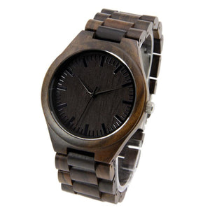 Wood Engraved Watch ~ Ebony Link - Cece & Me - Home and Gifts