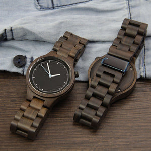 Wood Engraved Watch ~ Luxor Link