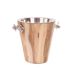 Wood & Metal Ice/Wine Bucket - Cece & Me - Home and Gifts